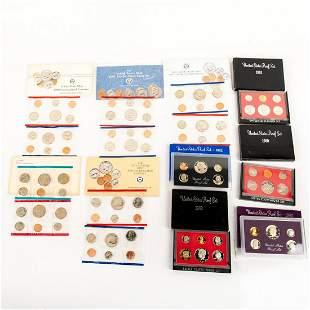 10 Us Mint Silver Proof Sets(1979-1991)