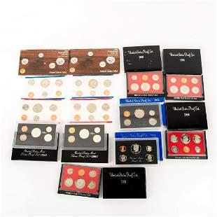 10 Us Mint Silver Proof Sets(1980-1994)