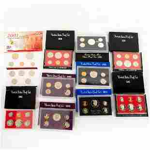 10 Us Mint Silver Proof Sets(1980-2001)
