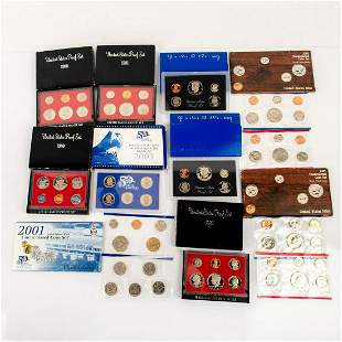 10 Us Mint Silver Proof Sets(1980-2003)