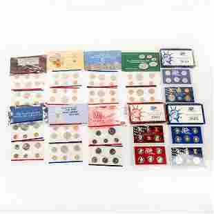 10 Us Mint Silver Proof Sets(1990-2003)