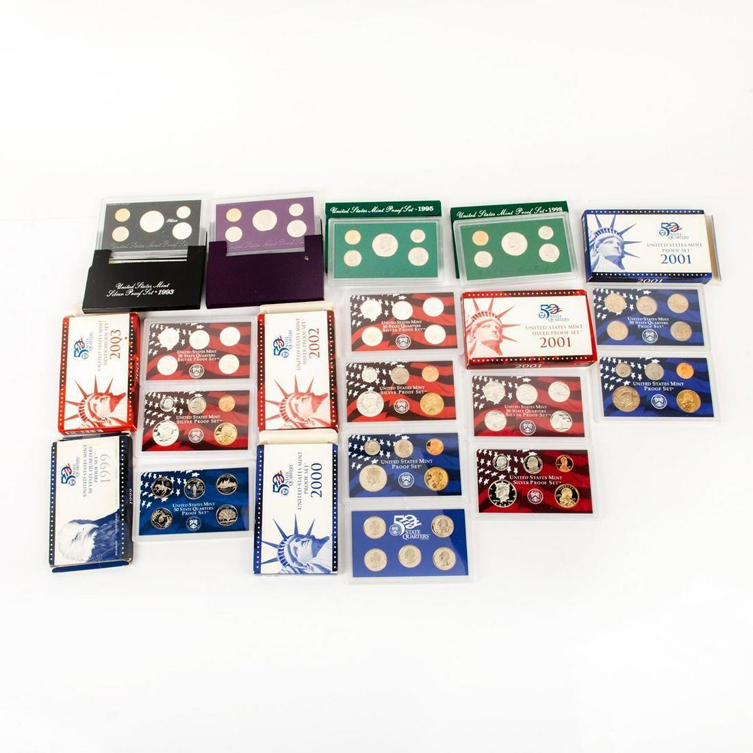 10 Us Mint Silver Proof Sets(1992-2003)