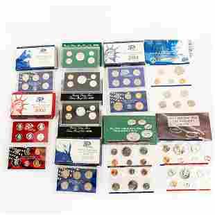 10 Us Mint Silver Proof Sets(1993-2003)