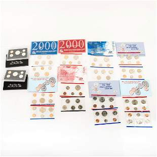 10 Us Mint Silver Proof Sets(1994-2000)
