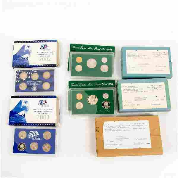 10 Us Mint Silver Proof Sets(1994-2003)