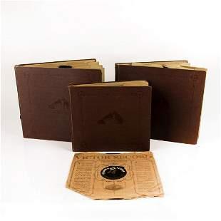 THREE VICTOR VICTROLA RECORD ALBUMS OF RECORDS