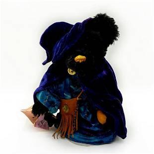 Mohican Forest Bears, Merlin Wizard Black Teddy Bear