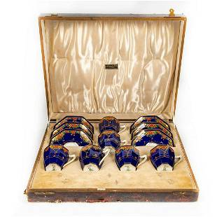 12pc Royal Doulton Demitasse Cups And Saucers Set