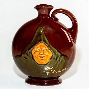 Royal Doulton Kingsware Whisky Flask, Jovial Monk