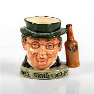 Royal Doulton Small White Jug, Mr. Pickwick Whisky