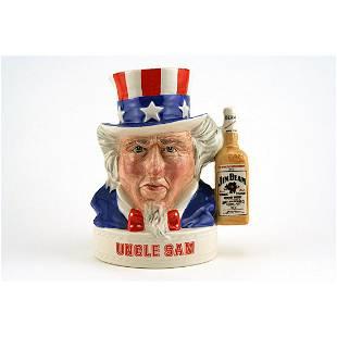 Royal Doulton SM Liquor Container Uncle Sam Jim Beam