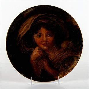 Doulton Burslem Portrait Plate, Woman