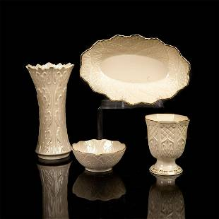 A SMALL GROUP OF LENOX SIDE PIECES
