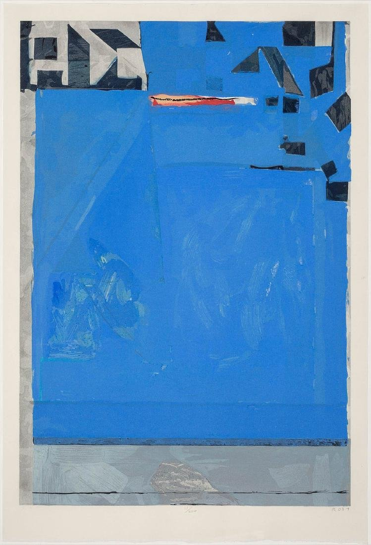 Blue with Red - Richard Diebenkorn