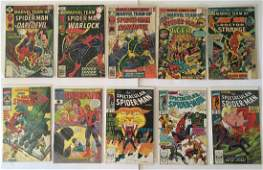 (10) MARVEL COMICS SPIDER MAN ASSORTED COMIC BOOKS