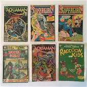 VINTAGE DC COMICS ASSORTED COMIC BOOKS LOT OF (6)