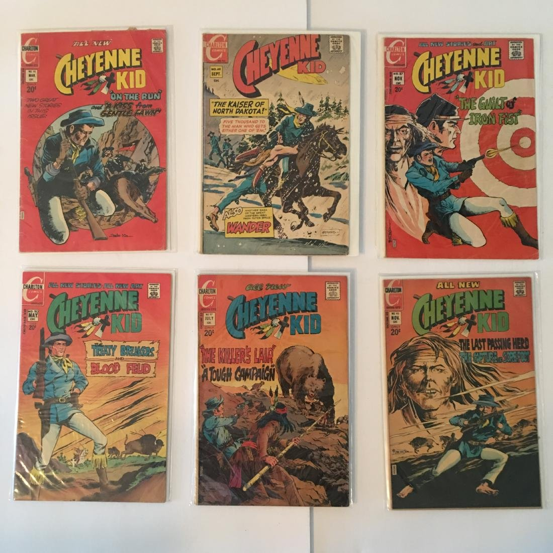VINTAGE CHARLTON COMICS ASSORTED COMIC BOOKS LOT OF (6)