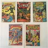 VINTAGE DC COMICS ASSORTED COMIC BOOK LOT OF (5)
