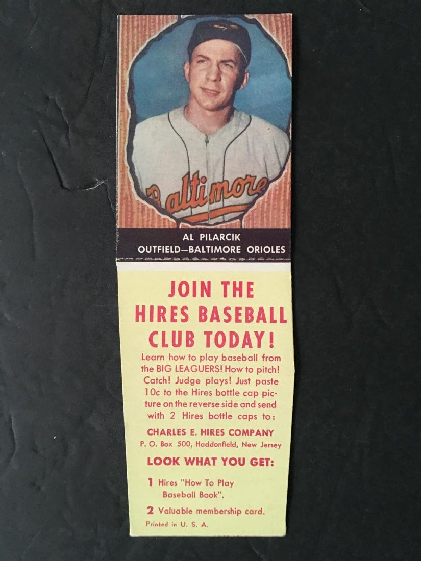 Vintage 1958 Hires Root Beer Coupon With Baseball Card
