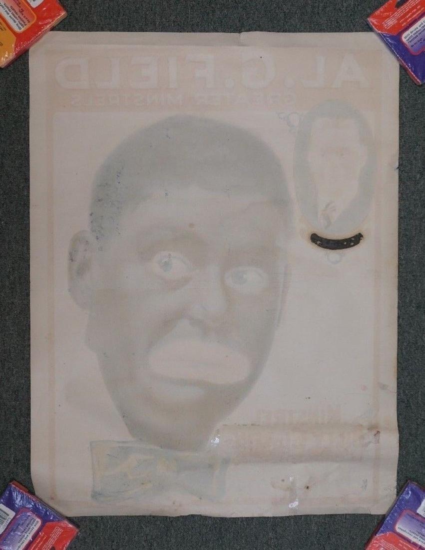 "1910-1920S RARE ORIGINAL BLACK MINSTRELS POSTER 21X28"" - 2"