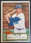 1952 BASEBALL CARD DUKE SNIDER #37 RC BV $500
