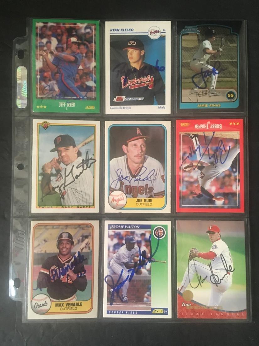 (9) HAND SIGNED MLB CARD LOT W/MINOR STARS