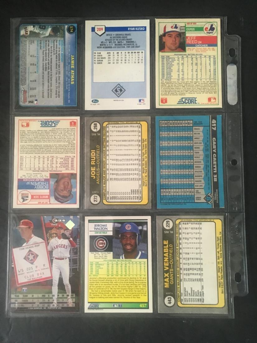 (9) HAND SIGNED MLB CARD LOT W/MINOR STARS - 2