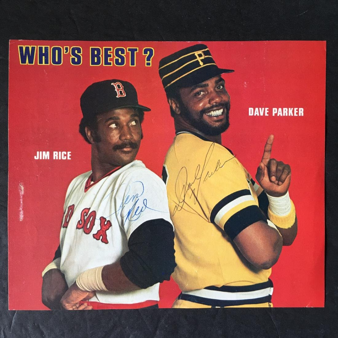 JIM RICE/DAVE PARKER HAND SIGNED PHOTO W/COA