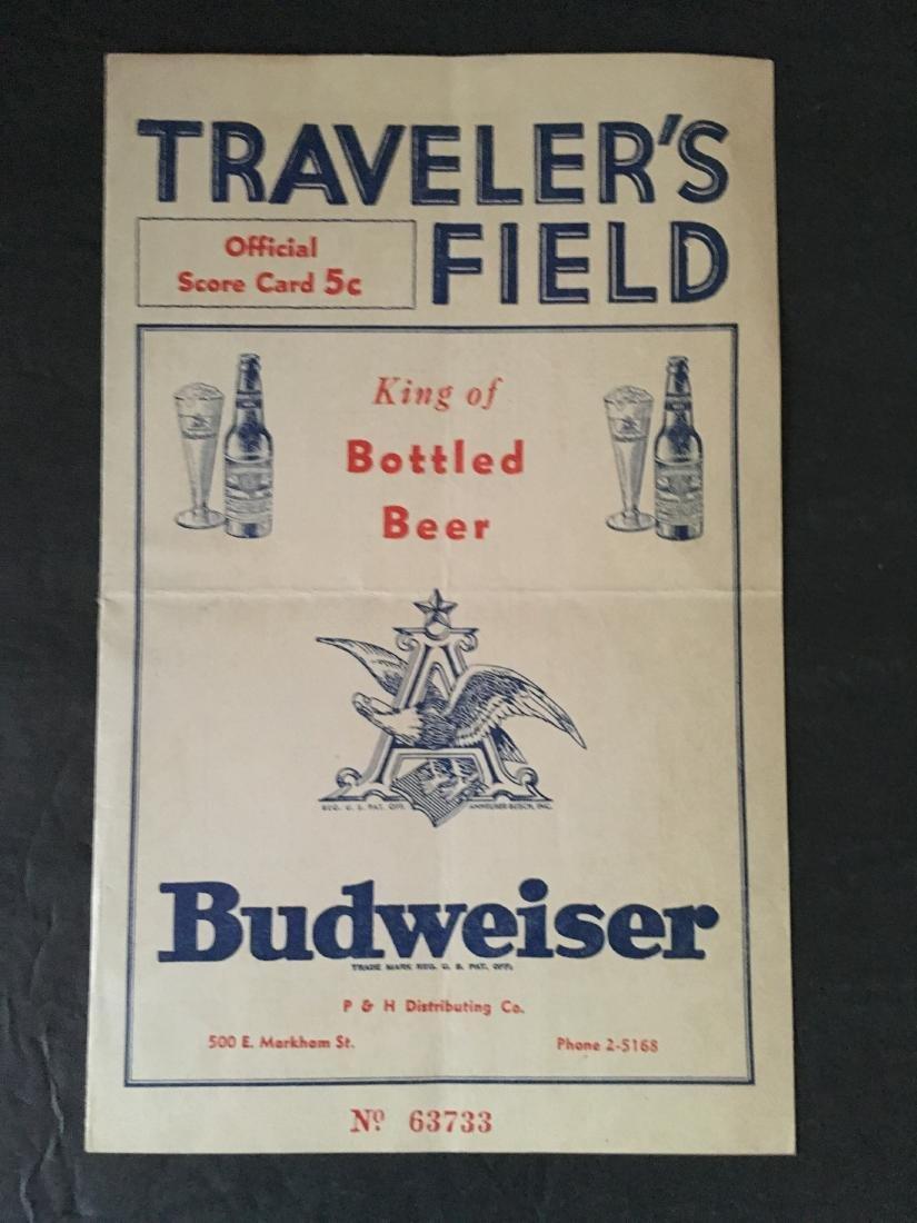 1930'S? CARDINALS VS CUBS SCORECARD BUDWEISER