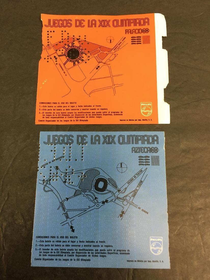 1968 OLYMPICS BASKETBALL/SOCCER TICKETS - 2
