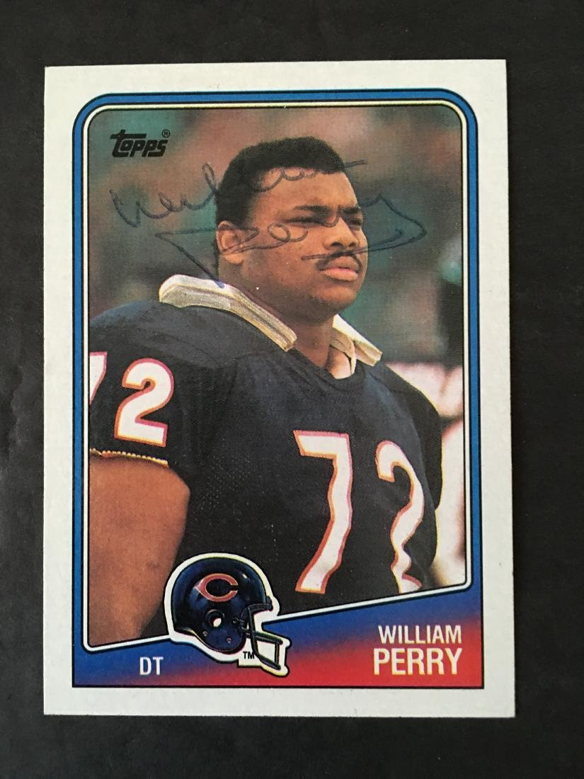 WILLIAM PERRY CHICAGO BEARS SIGNED CARD #79