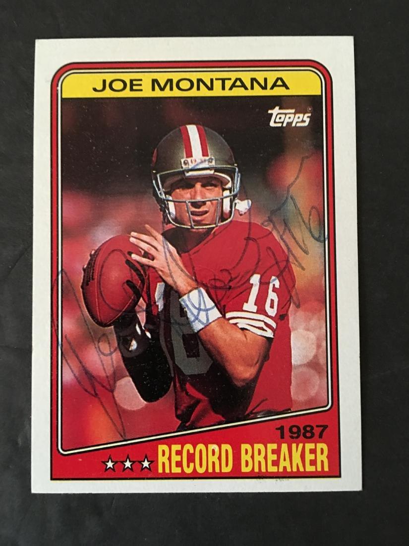 JOE MONTANA 49ERS HAND SIGNED CARD #4