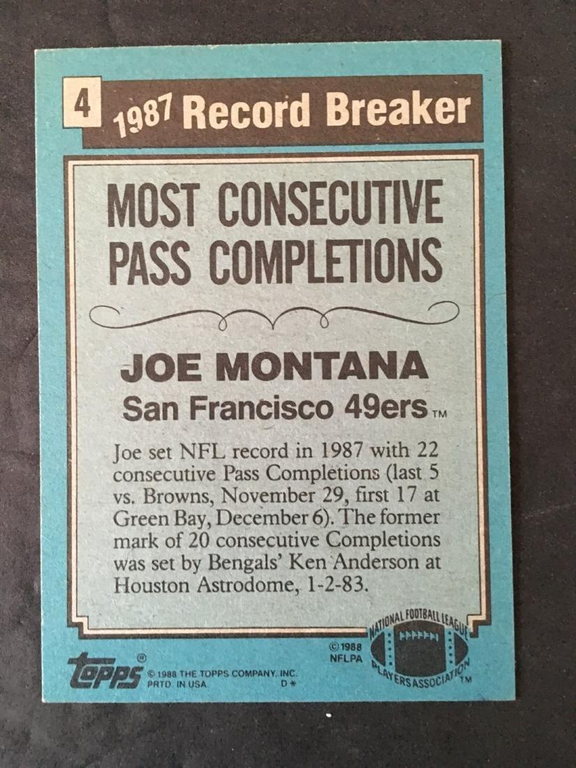 JOE MONTANA 49ERS HAND SIGNED CARD #4 - 2