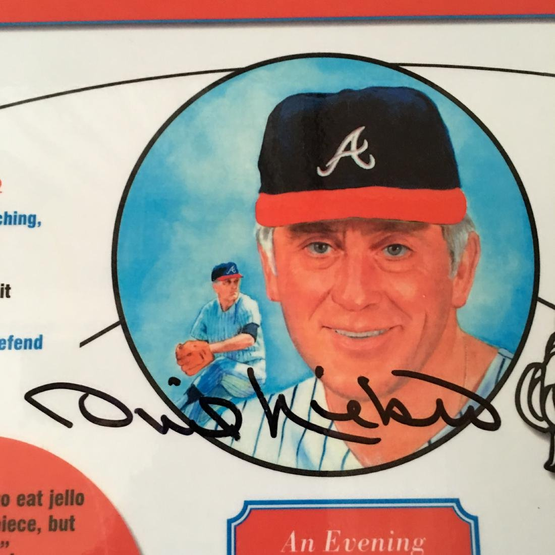 BASEBALL PHIL NIEKRO SIGNED PLACEMAT W/COA - 2