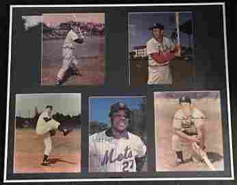 SIGNED DISPLAY MAYS/WILLIAMS/SNIDER/MUSIAL W/COA