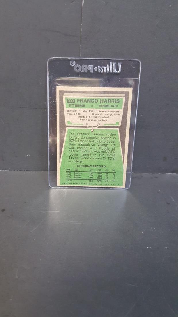 1975 TOPPS FOOTBALL CARD FRANCO HARRIS #300 - 2