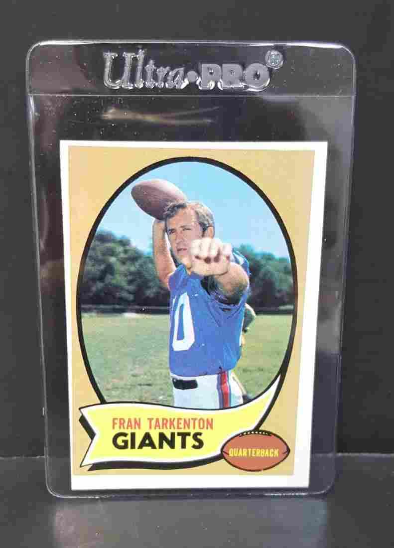 1970 TOPPS FOOTBALL CARD FRAN TARKENTON #80