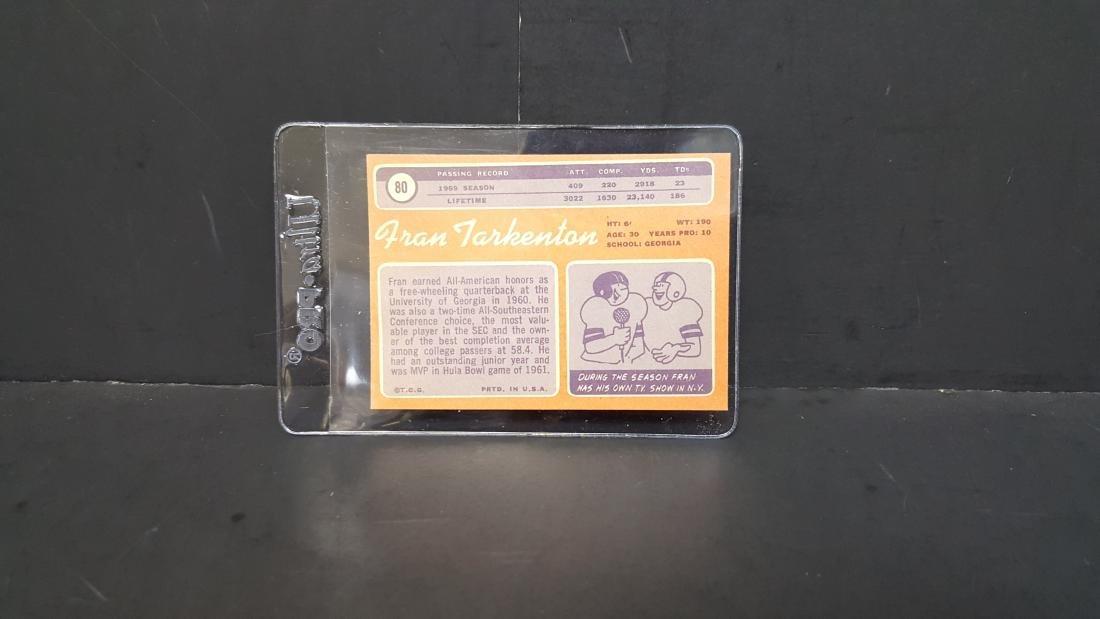 1970 TOPPS FOOTBALL CARD FRAN TARKENTON #80 - 2