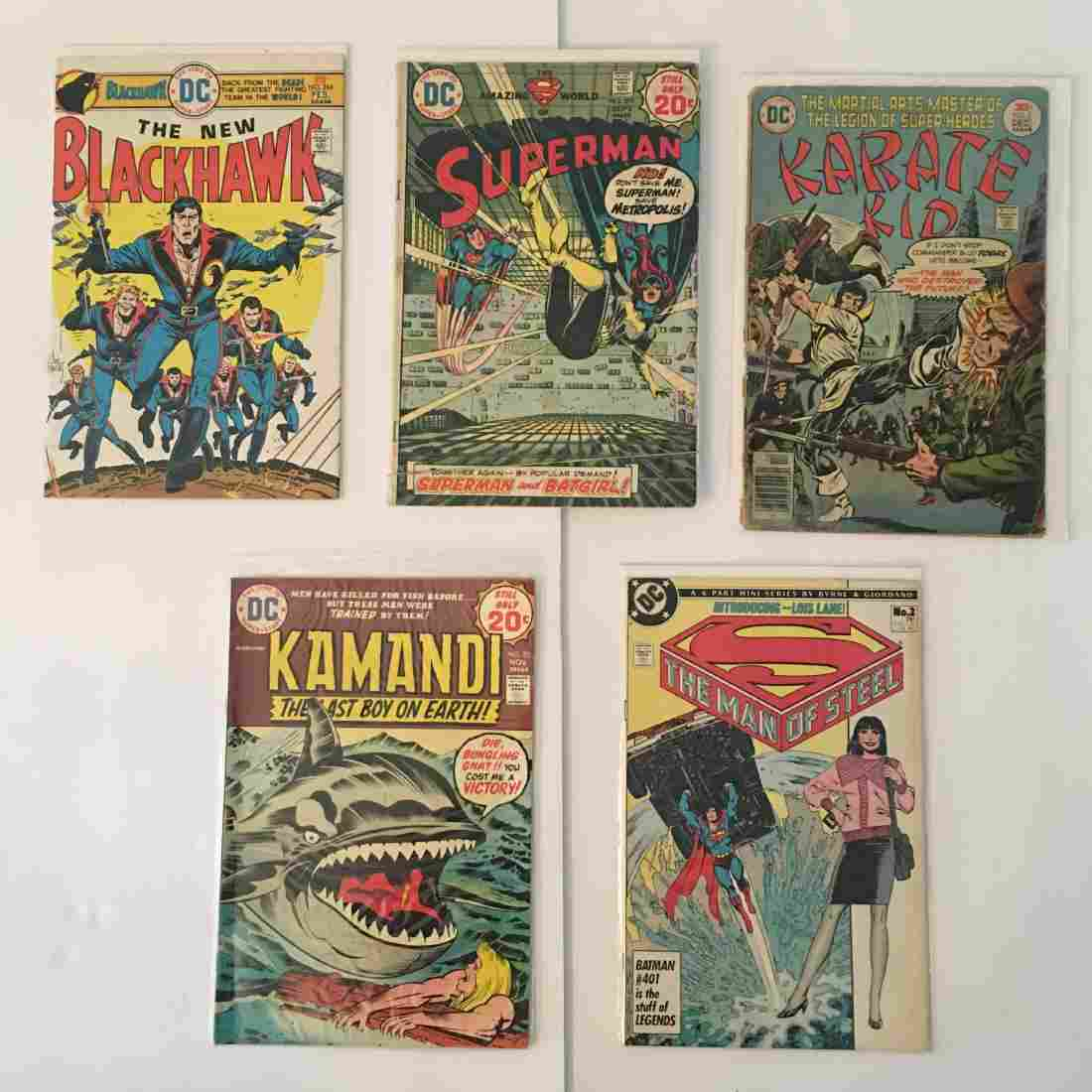 VINTAGE DC COMICS ASSORTED SUPERMAN/KAMANDI/KARATE