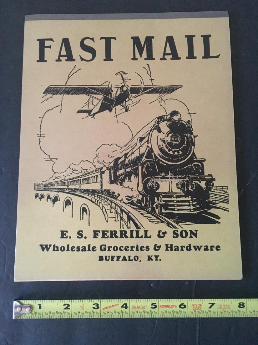 1900'S FAST MAIL UNUSED RAILROAD  NOTEPAD