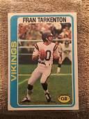 1978 TOPPS FOOTBALL CARD FRAN TARKENTON 100