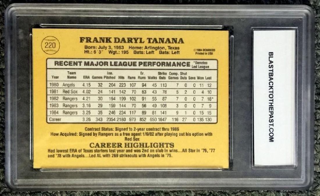 1985 DONRUSS BASEBALL CARD HAND SIGNED #220 FRANK DARYL - 2