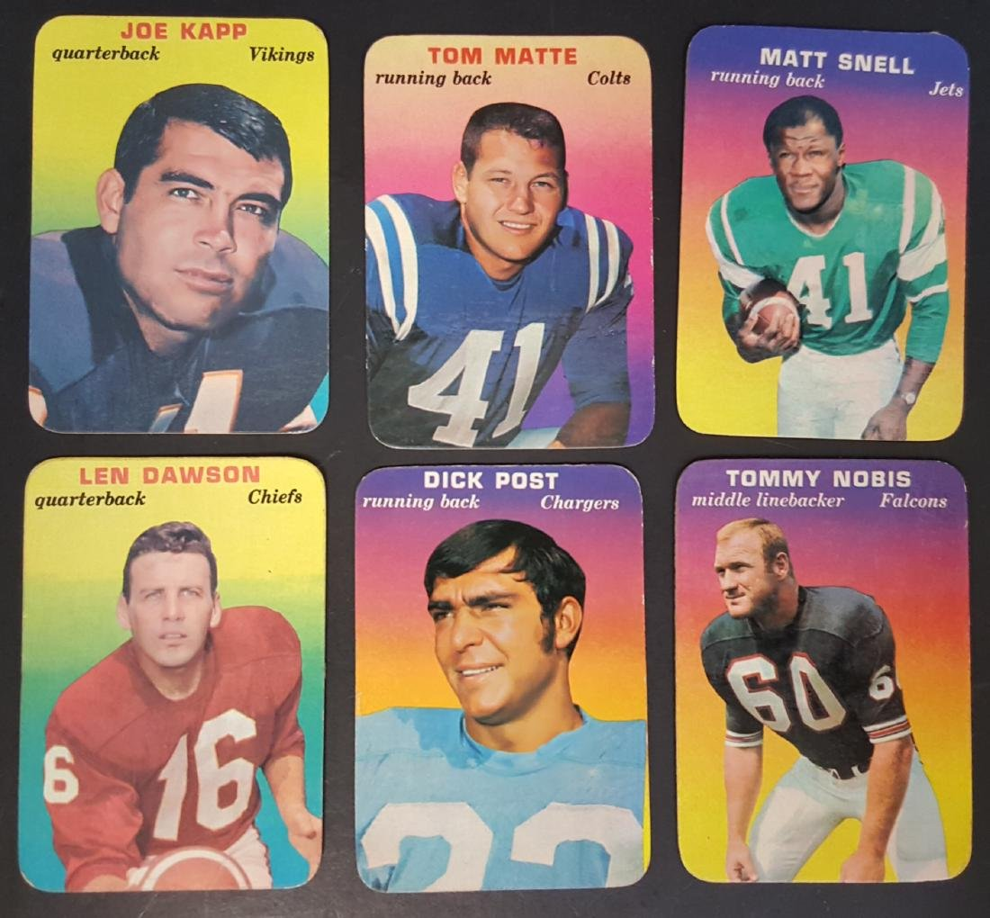 1970 TOPPS BASEBALL INSERTS (6) CARD LOT