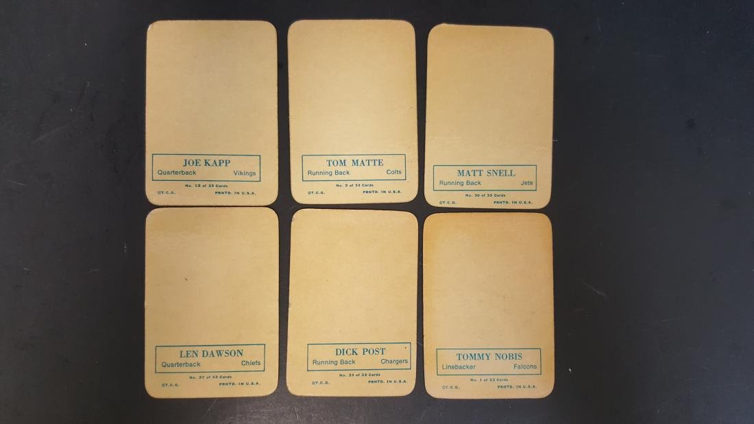 1970 TOPPS BASEBALL INSERTS (6) CARD LOT - 2