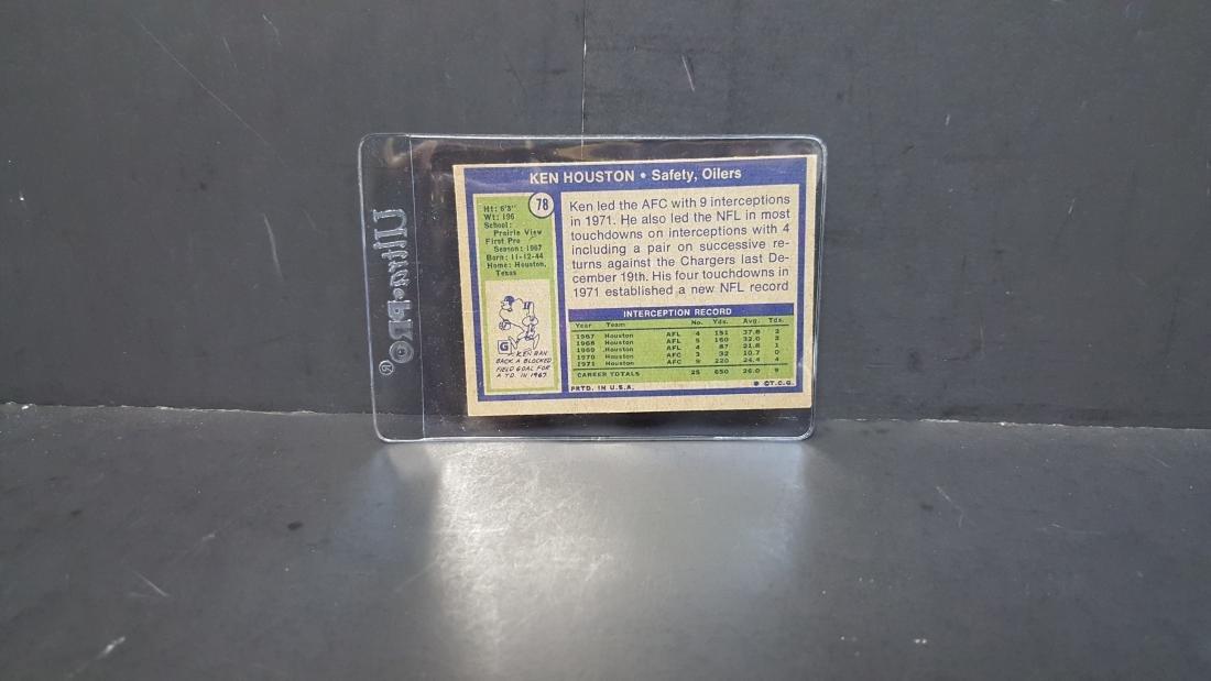 1972 TOPPS FOOTBALL CARD KEN HOUSTON #78 - 2