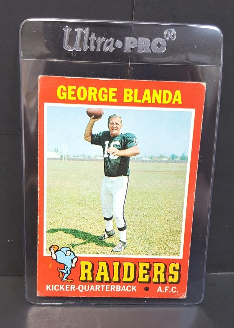 1971 TOPPS FOOTBALL CARD GEORGE BLANDA #39