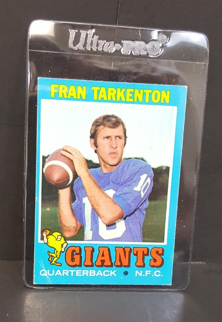 1971 TOPPS FOOTBALL CARD FRAN TARKENTON #120