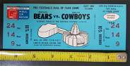 1968 UNUSED FULL GAME TICKET CHICAGO BEARS VS. DALLAS
