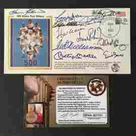 BASEBALL 500 HR CLUB HAND SIGNED X (11)  W/COA