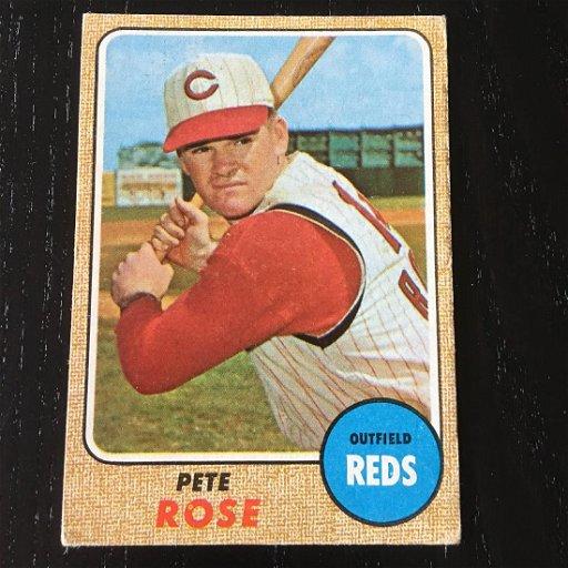 1968 Topps Baseball Card Pete Rose 230